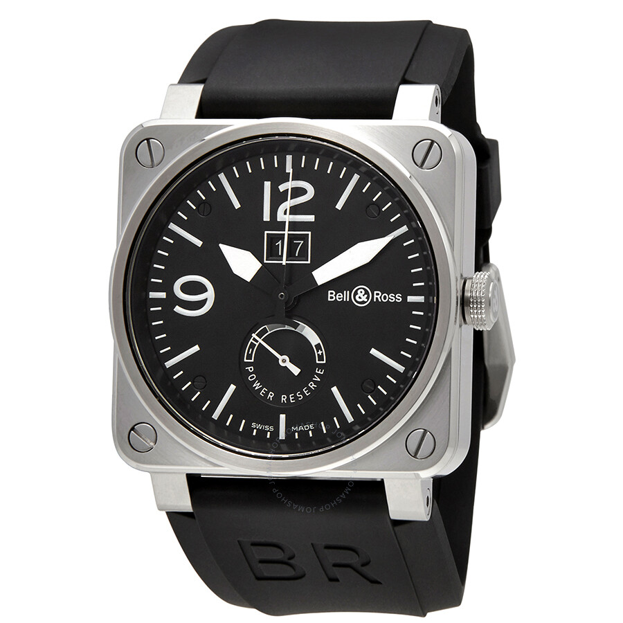 Bell and Ross Grande Date and Reserve De Marche Automatic Men's Watch BR0390-BL- ...