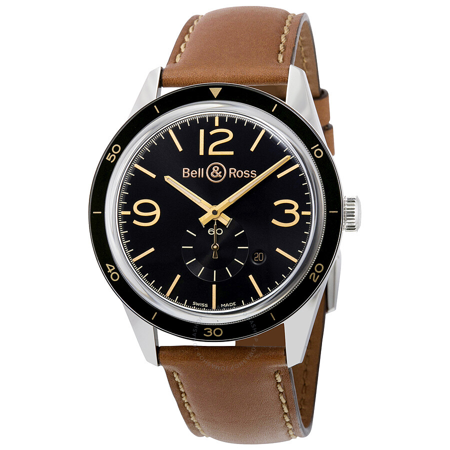 Bell And Ross Heritage Automatic Black Dial Men's Watch RBRV123-GH-ST-SCA ...
