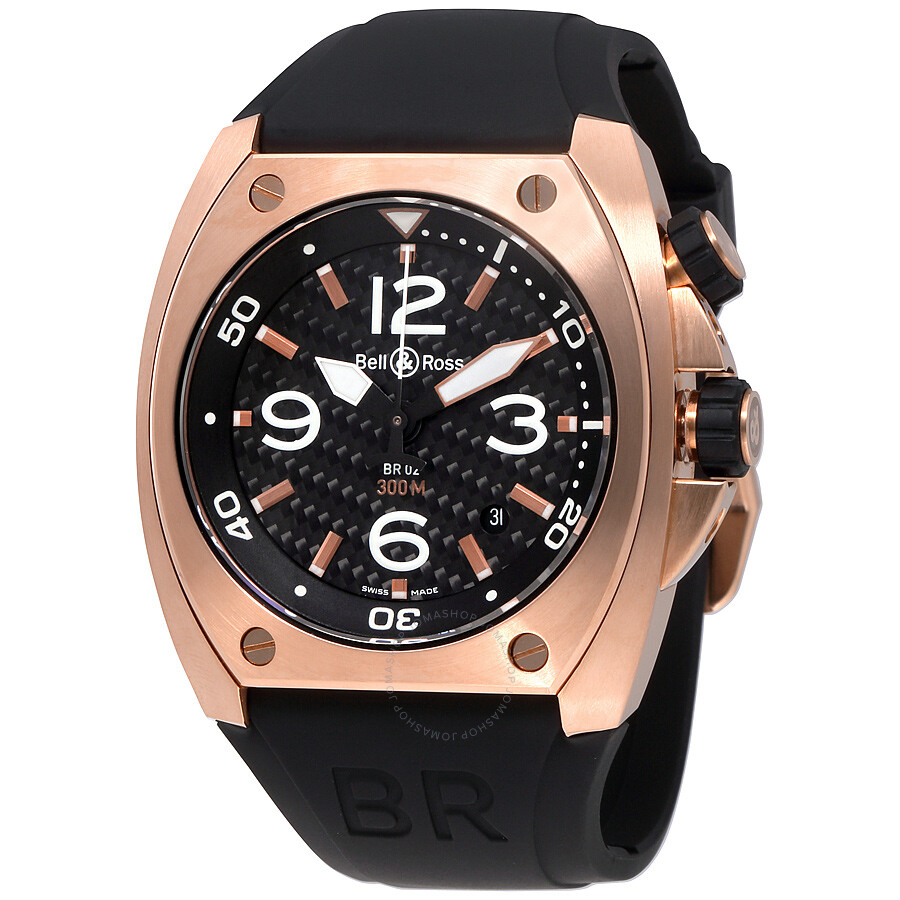 bell and ross marine automatic men 39 s watch br02 pinkgold. Black Bedroom Furniture Sets. Home Design Ideas