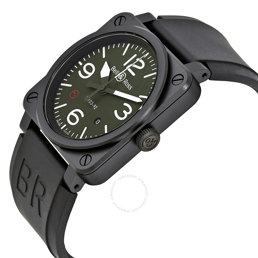 2c1cd3db609 ... Bell and Ross Military Type Automatic Olive Dial Men s Watch BR0392-MIL  ...