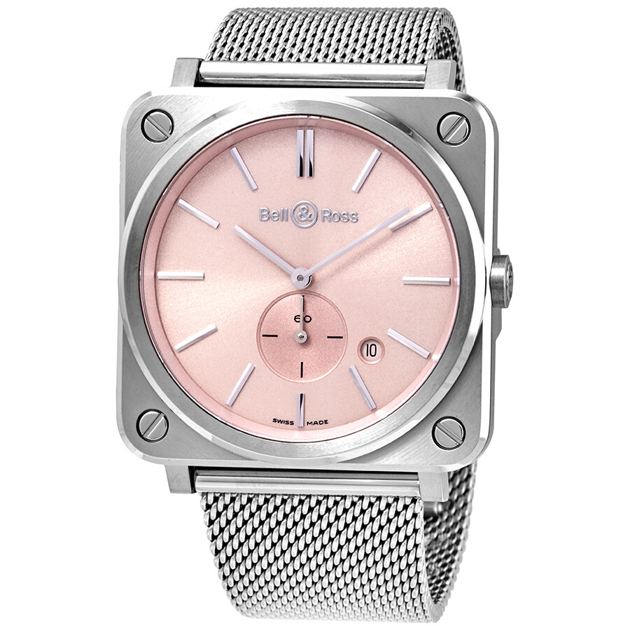 Novarosa Pink Sunray Diamond Dial Ladies Watch BRS-PK-ST-SST