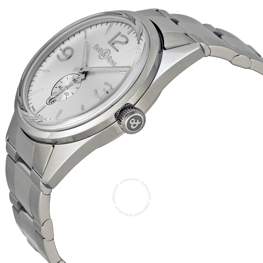 efa91c0bc2d7 ... Bell and Ross Officer Automatic Silver Dial Stainless Steel Men s Watch  BR123-WH-ST ...