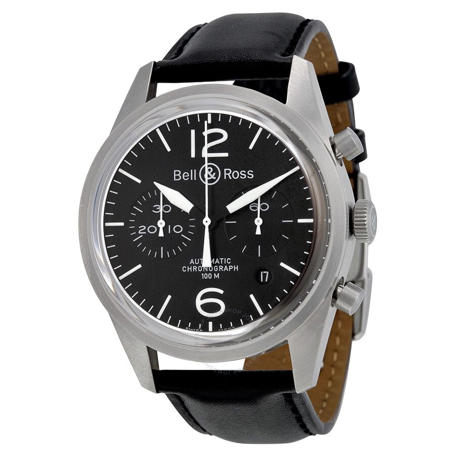 bell and ross original black dial chronograph automatic 41. Black Bedroom Furniture Sets. Home Design Ideas