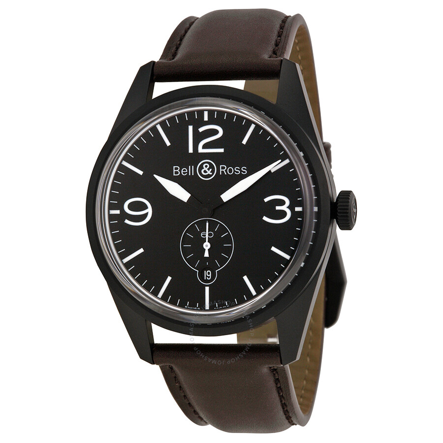 bell and ross vintage automatic men 39 s watch rbrv123 bl ca. Black Bedroom Furniture Sets. Home Design Ideas