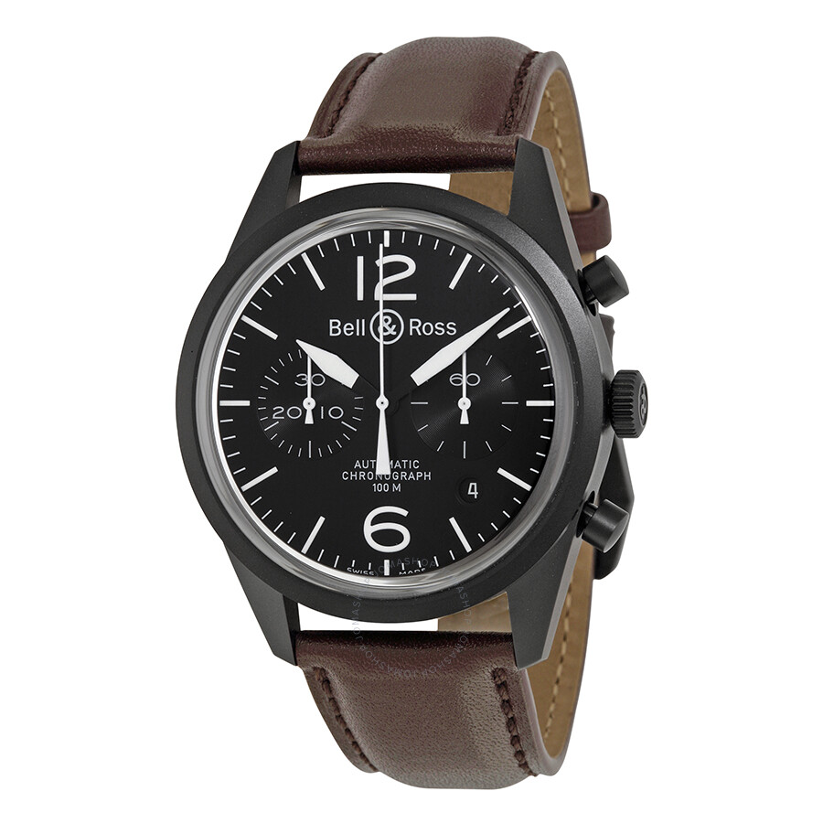bell and ross vintage original chronograph men 39 s watch blrbrv126 bl cb vintage bell and ross. Black Bedroom Furniture Sets. Home Design Ideas
