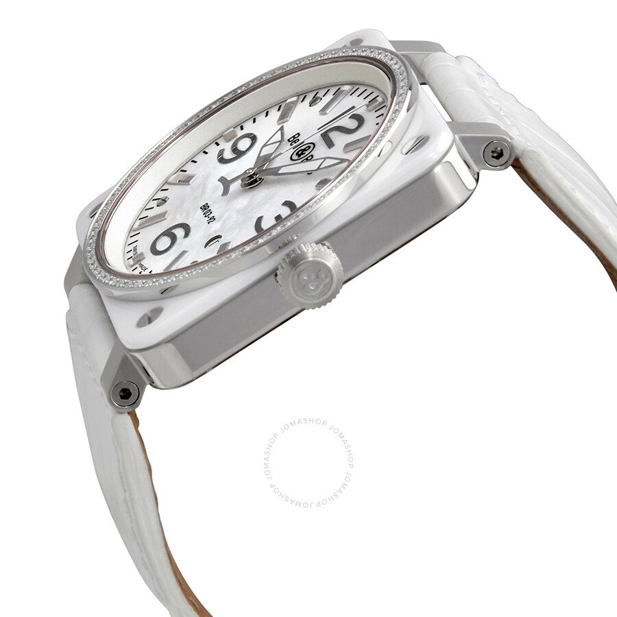 e2d2106a8 ... Bell and Ross White Ceramic Diamond Mother of Pearl Unisex Watch BR0392- WH-C-D ...