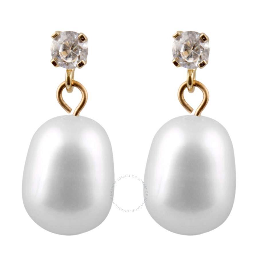 Bella Pearl Cubic Zirconia Pearl Stud Earrings