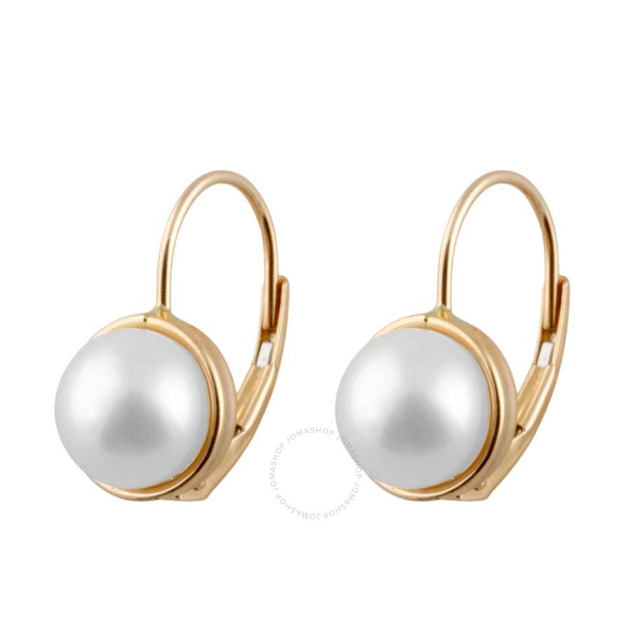 ... Jewelry / Bella Pearl / Bella Pearl Freshwater Pearl 14K Gold Earrings