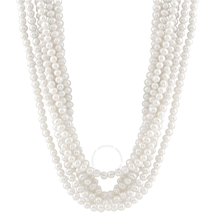 Multi Row Pearl Necklace: Bella Pearl Multi Row Freshwater Pearl Necklace