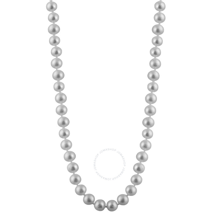 Single Strand Pearl Necklace: Bella Pearl Single Strand White Freshwater Pearl 16