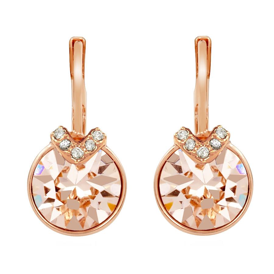 Bella V Pierced Rose Gold Plated Earrings 5299318