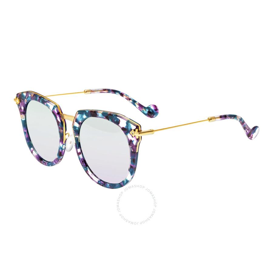 Bertha Aaliyah Purple Cat Eye Sunglasses Br023pu Br023pu Sunglasses Bertha Jomashop
