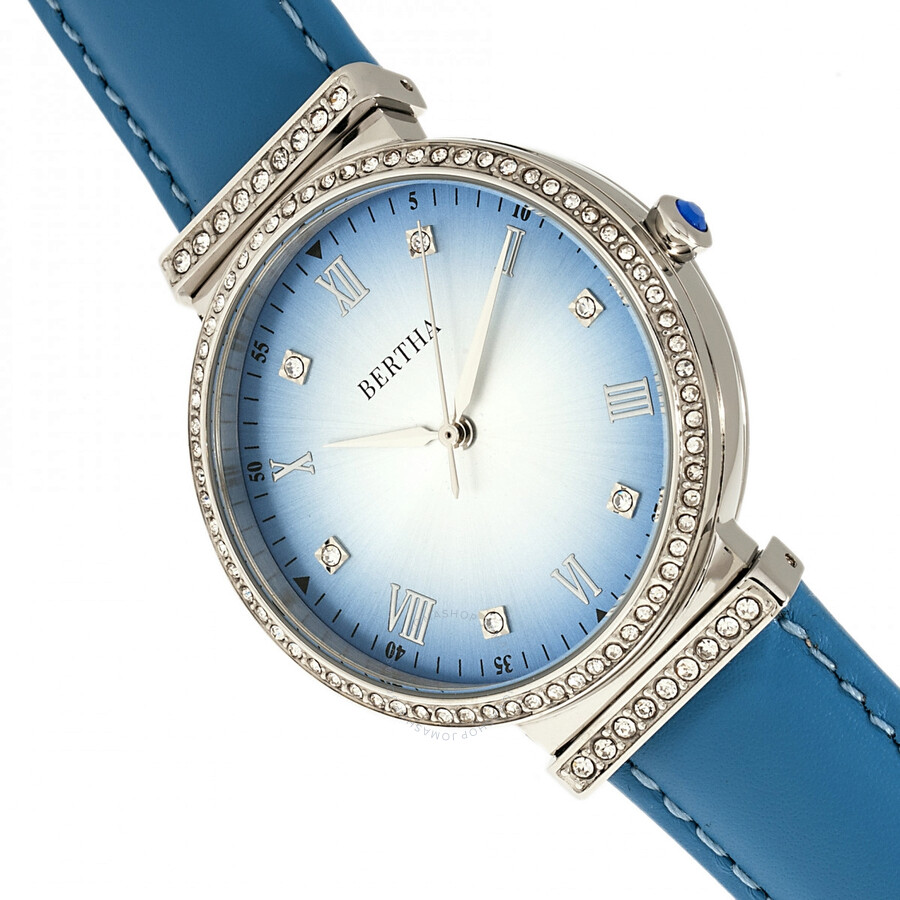 Allison Quartz Crystal Blue Dial Ladies Watch BR9303