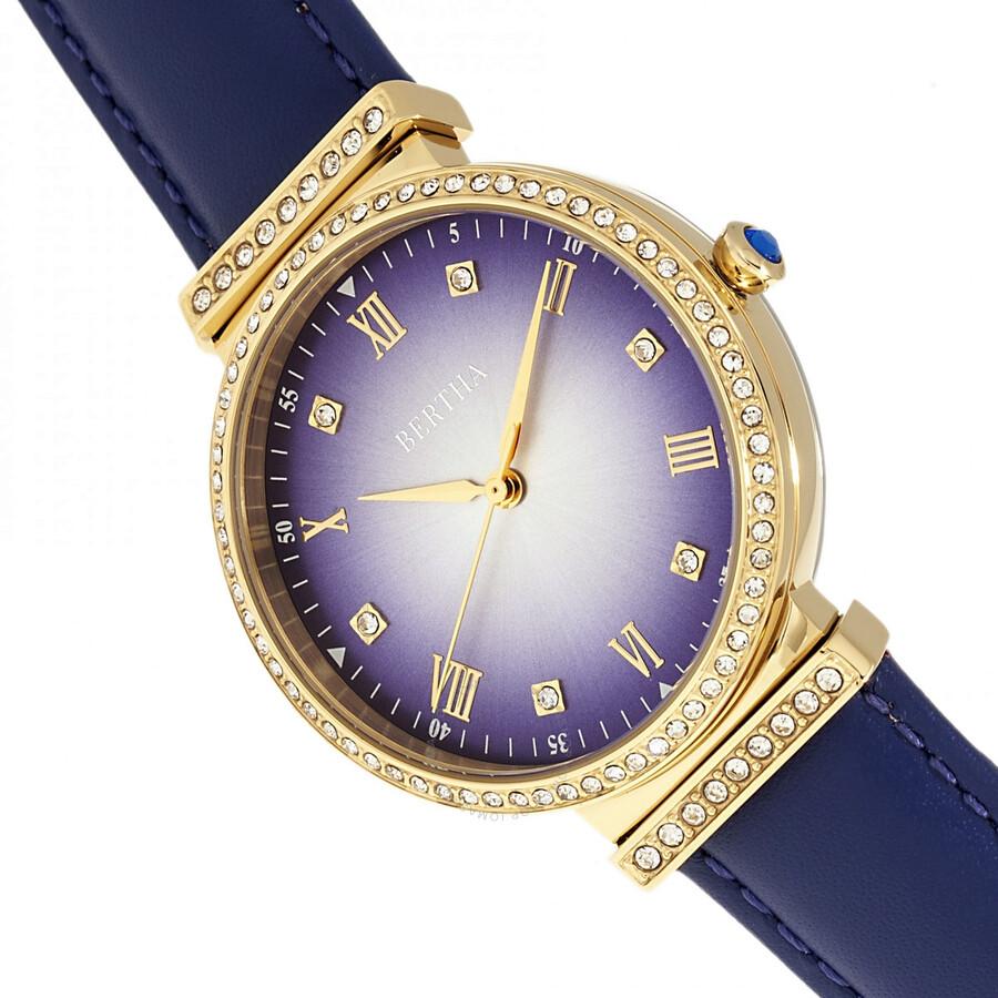 Allison Quartz Crystal Purple Dial Ladies Watch BR9304