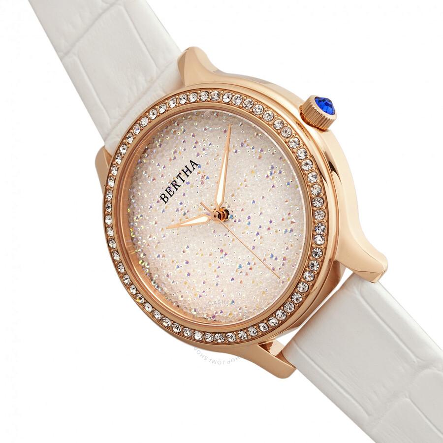 Bertha Cora Crystal White Dial Ladies Watch BR6004 - Bertha ... aac3b2a117