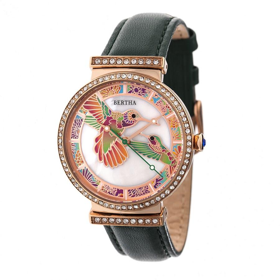 Bertha emily crystal ladies watch br7807 bertha watches jomashop for Crystal ladies watch