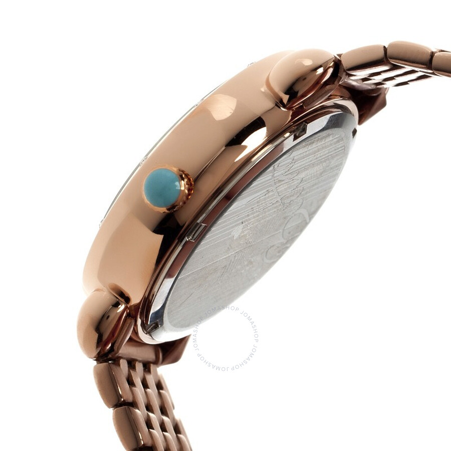eb0d3f32c785 ... Bertha Genevieve Rose Gold-tone Steel Case Peacock Mother of Pearl Dial  Ladies Watch BR3803