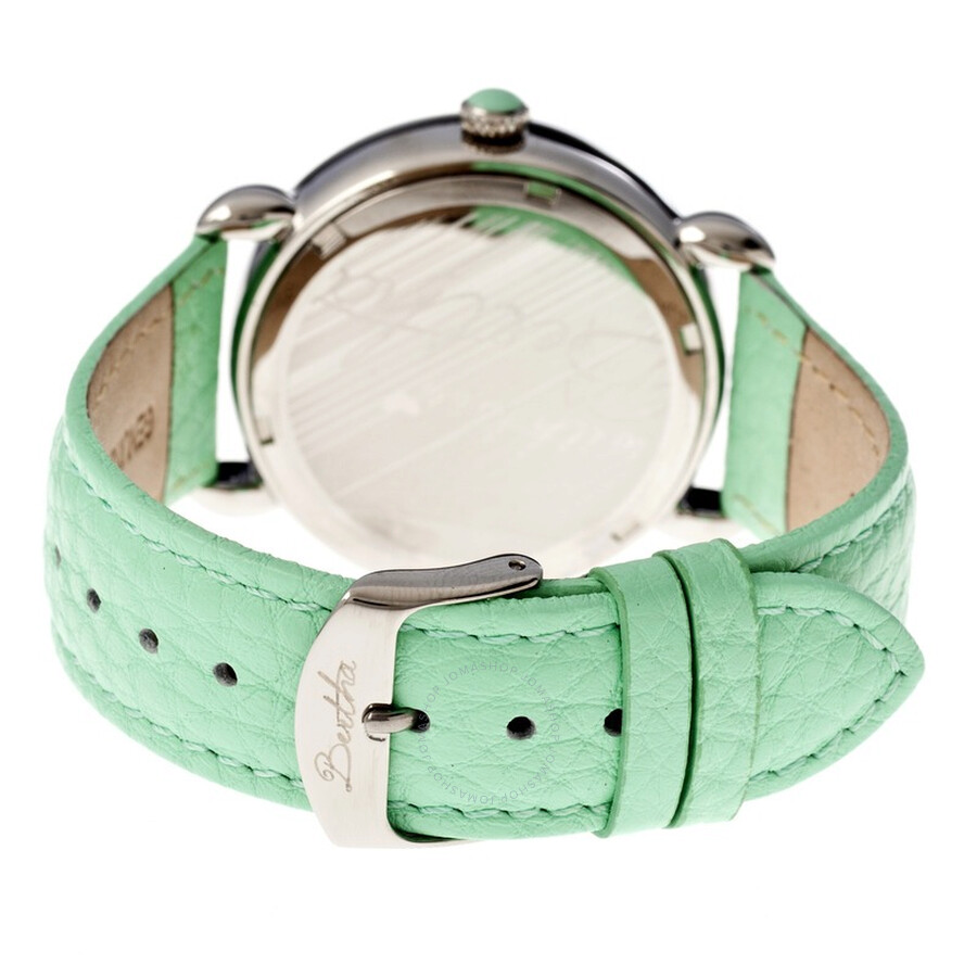 3dc5078dd72a ... Bertha Genevieve Steel Case Peacock Mother of Pearl Dial Ladies Watch  BR3804 ...