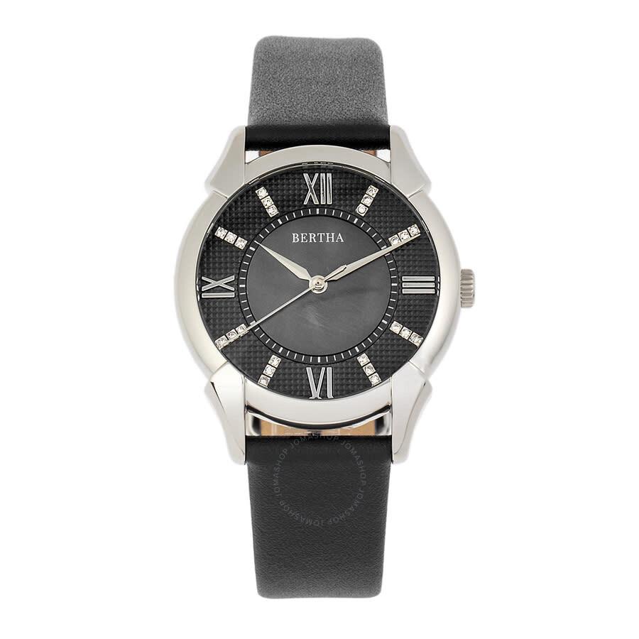 Ida Quartz Crystal Black Dial Ladies Watch BTHBS1201