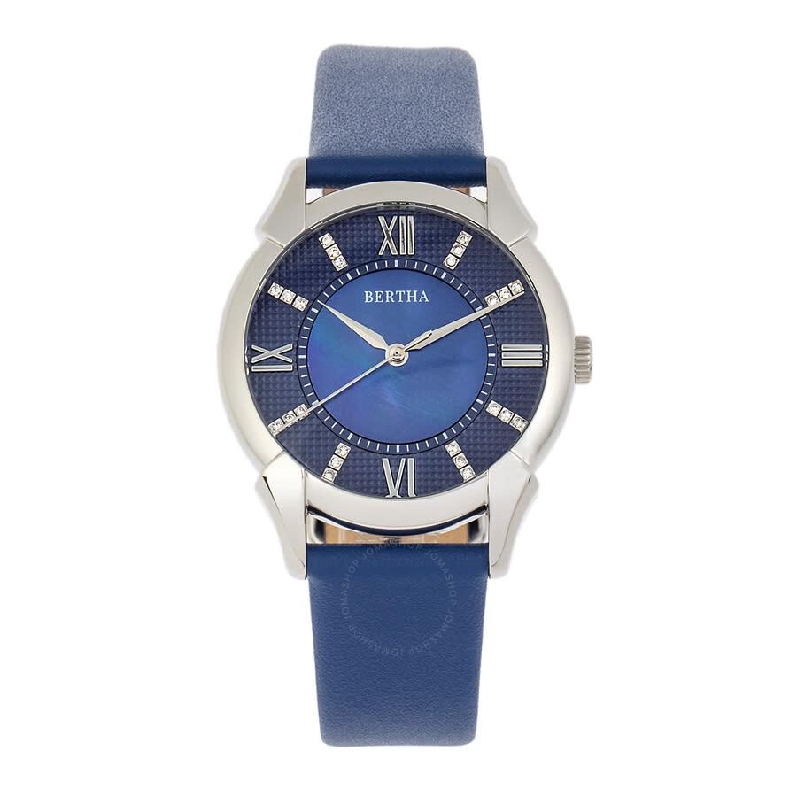 Ida Quartz Crystal Blue Dial Ladies Watch BTHBS1202