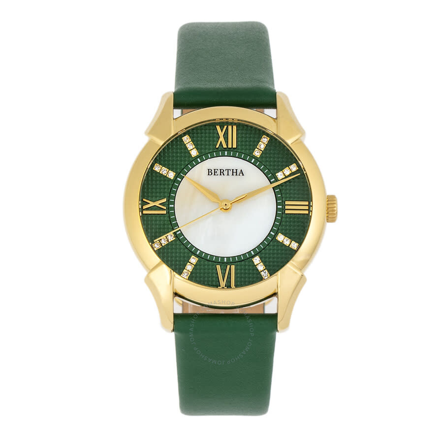 Ida Quartz Crystal Green Dial Ladies Watch BTHBS1203