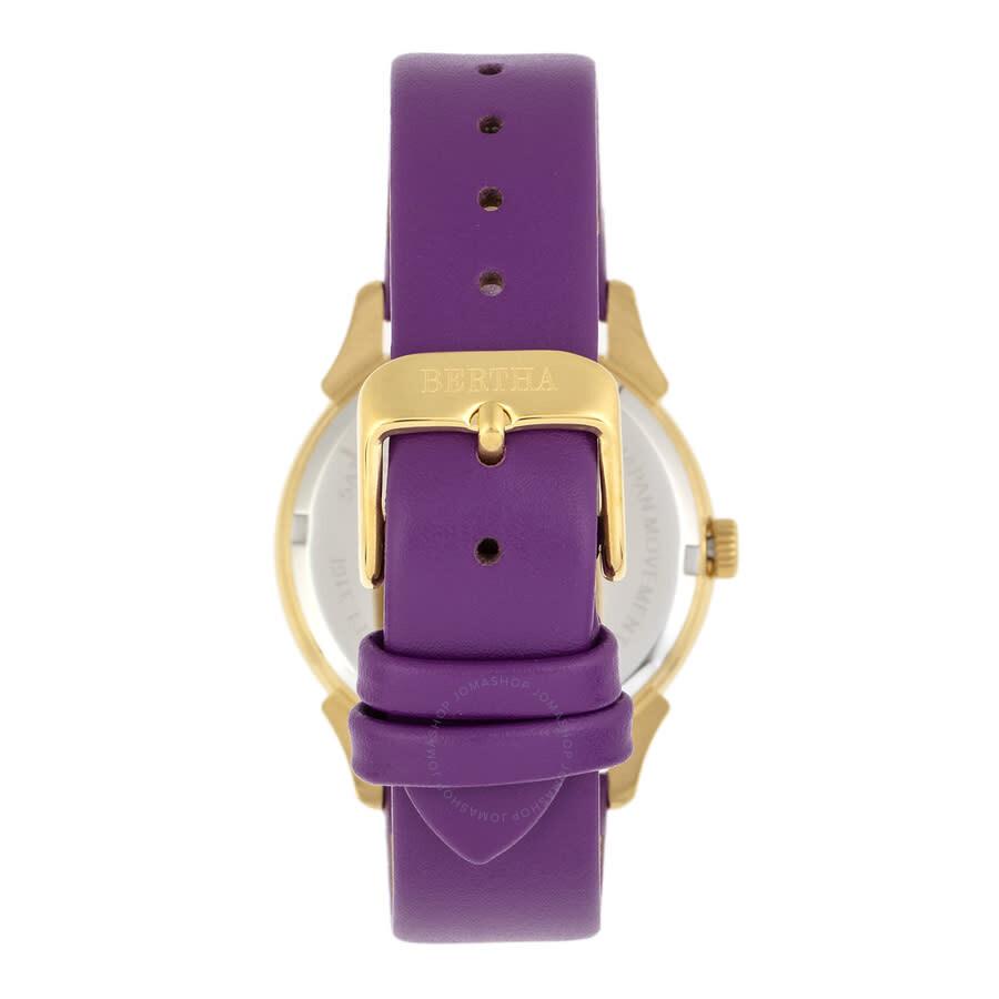 Ida Quartz Crystal Purple Dial Ladies Watch BTHBS1204