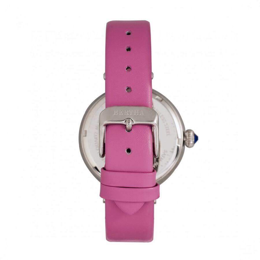 Rosie Crystal Pink Dial Pink Leather Ladies Watch BR8802