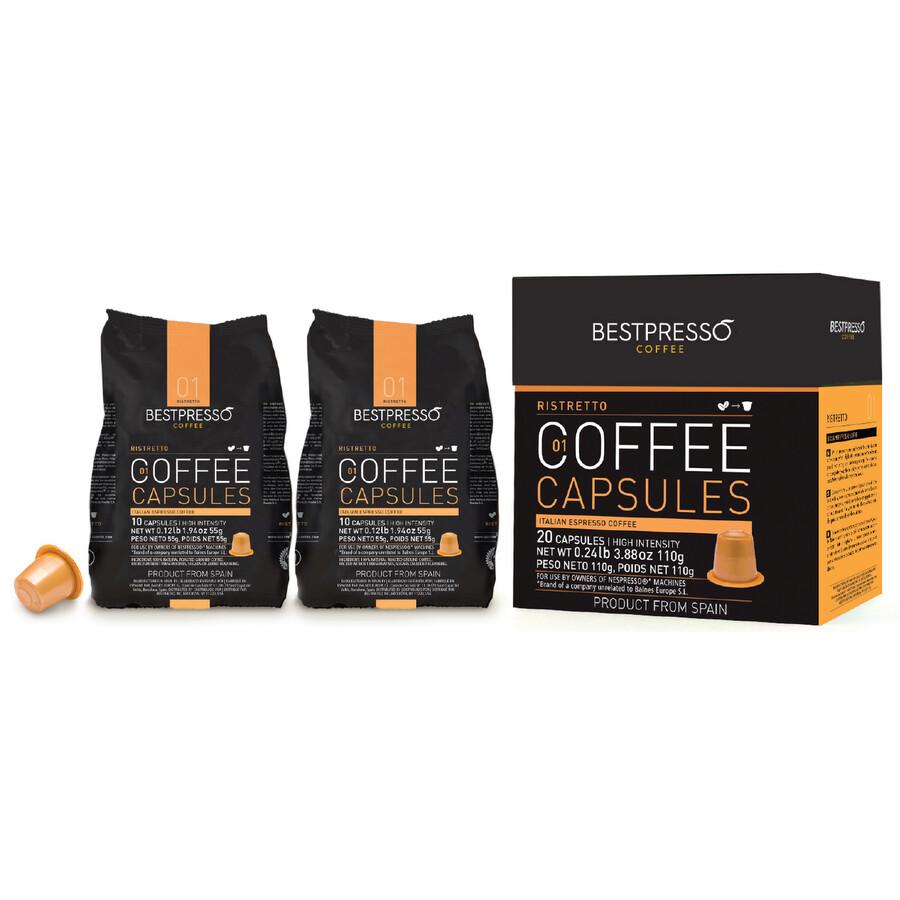 40 bestpresso nespresso compatible gourmet coffee capsules nespresso pods alternative. Black Bedroom Furniture Sets. Home Design Ideas