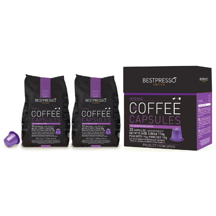 120 bestpresso nespresso compatible gourmet coffee capsules nespresso pods alternative. Black Bedroom Furniture Sets. Home Design Ideas