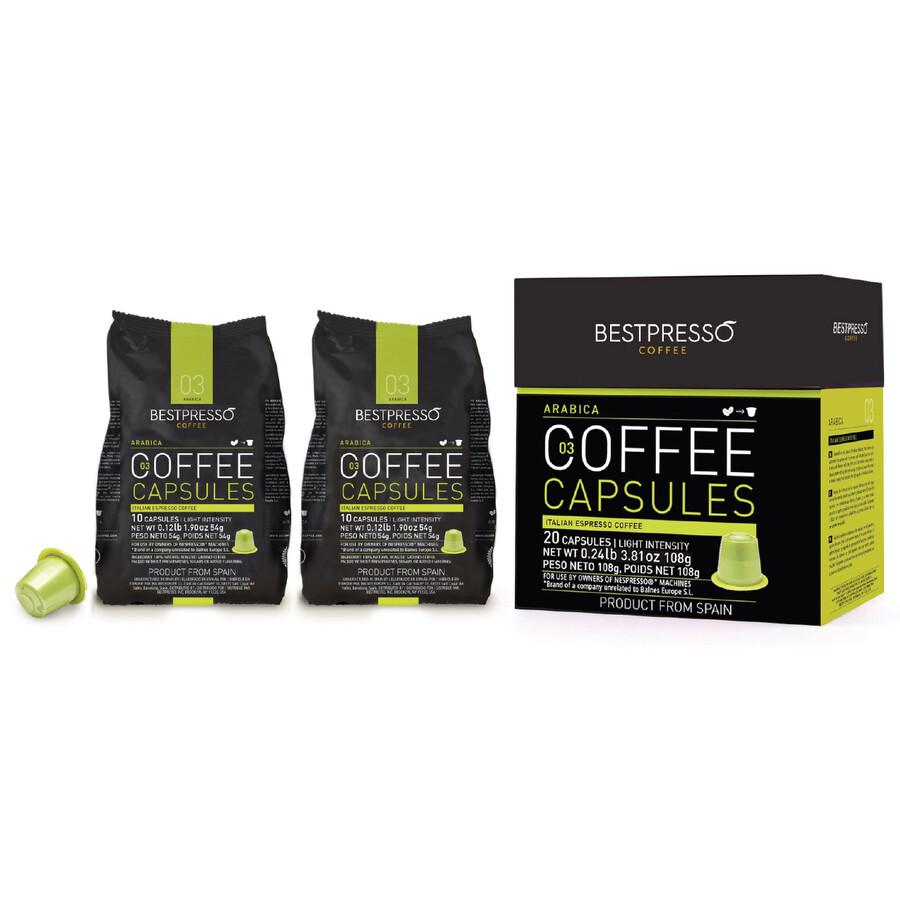 80 bestpresso nespresso compatible gourmet coffee capsules nespresso pods alternative arabica. Black Bedroom Furniture Sets. Home Design Ideas