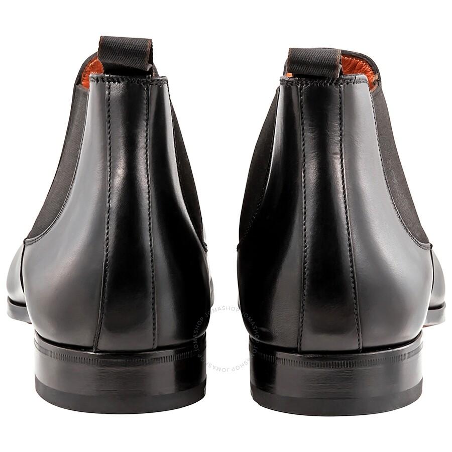 173f58bd4a6df Santoni Black Men's Leather Ankle Boots - Size 7 - Shoes - Fashion ...