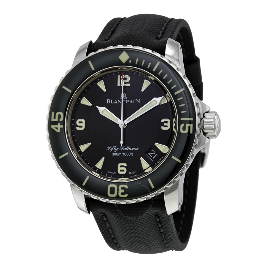 blancpain fifty fathoms automatic men 39 s 5015 1130 52b fifty fathoms blancpain watches