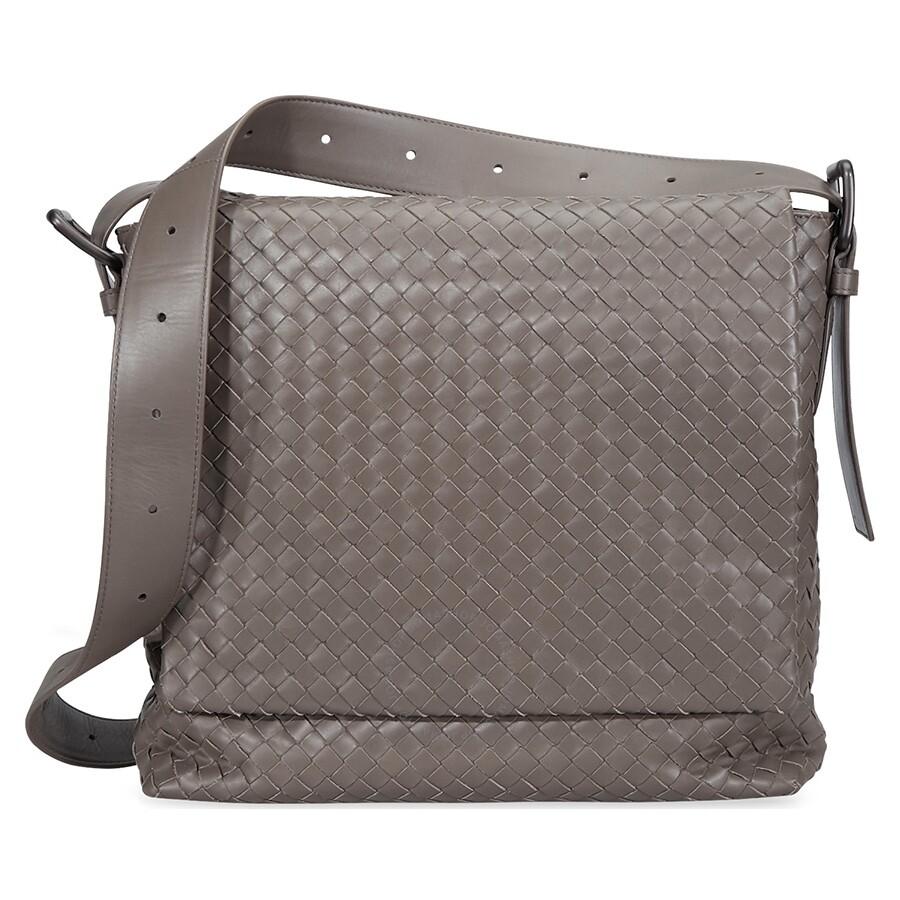 a6e17a67485c Bottega Veneta Calf Leather Messenger Bag- Steel Item No. 406275 VQ131S ST