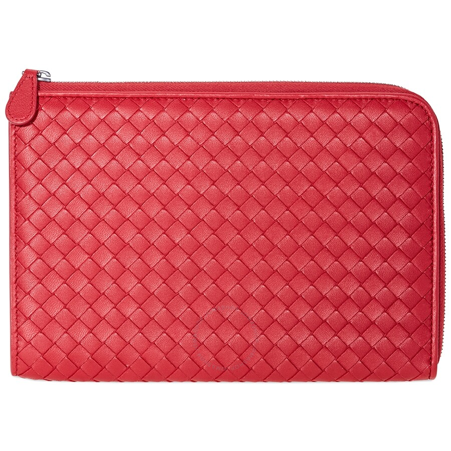 9f556aeede25 Bottega Veneta Document Bag- Red