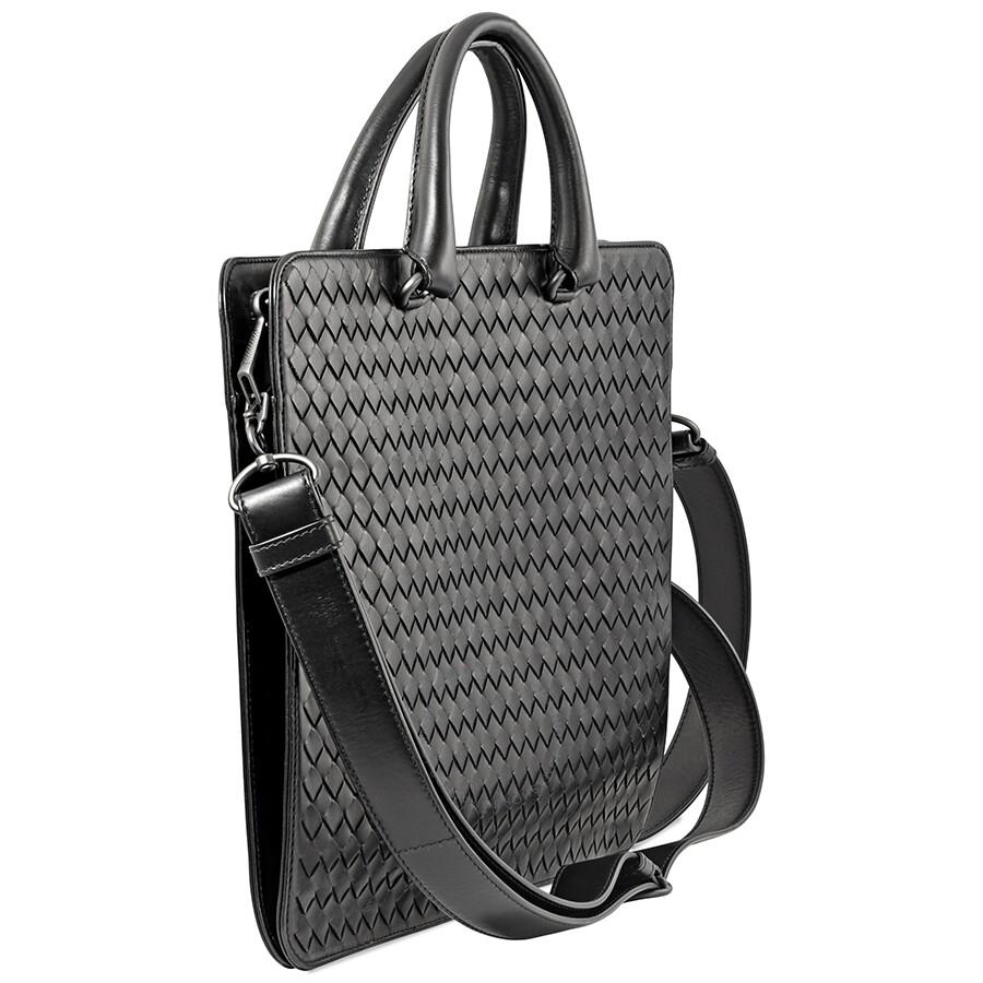 d03835db1e Bottega Veneta Intrecciato Woven Leather Briefcase- Black - Bottega ...
