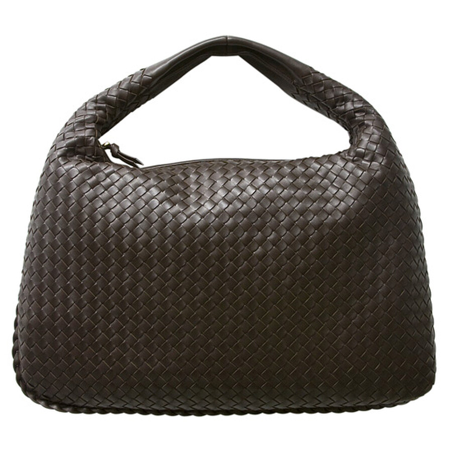 654f3e409c Bottega Veneta  Veneta  Woven Chocolate Leather Large Hobo Item No.  115654-V0013-2040