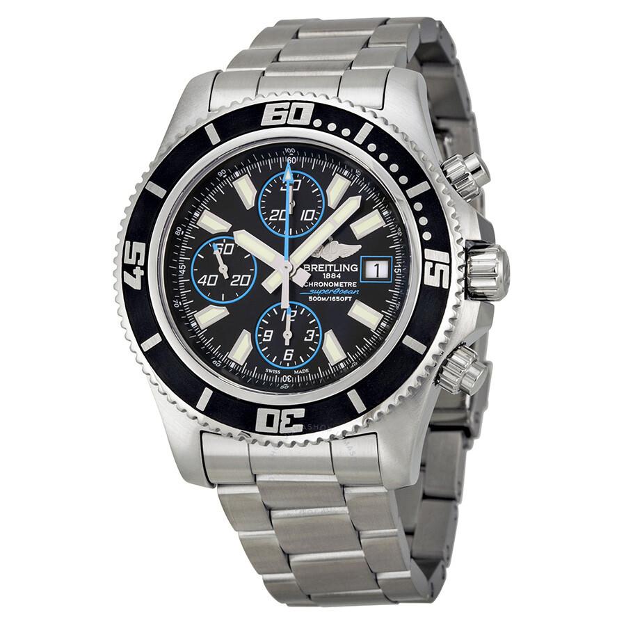 8c9f5c22d57 Breitling Aeromarine Superocean Chronograph II Black Dial Men s Watch  A1334102-BA83SS Item No. A1334102 BA83
