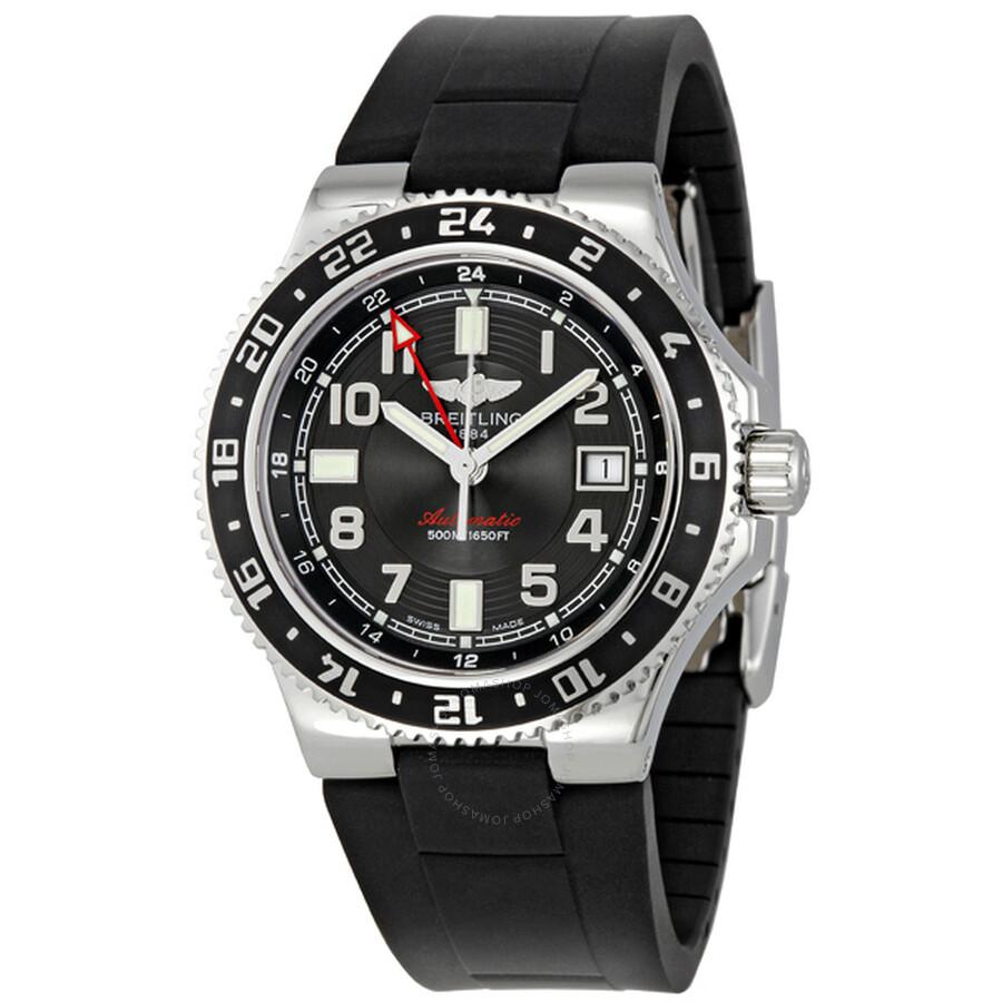 73b237479a7 Breitling Aeromarine Superocean GMT Black Dial Men s Watch  A3238011-BA38BKRD ...