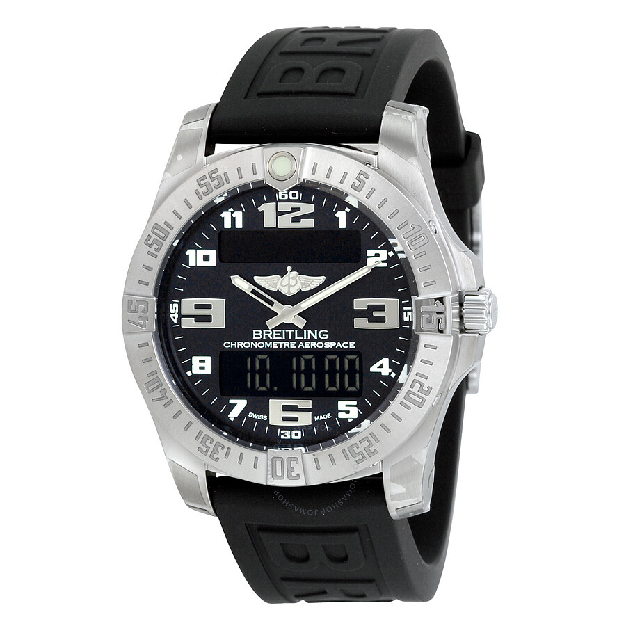 breitling aviator watch prices l41z  Breitling Aerospace EVO Black Dial Quartz Men's Watch