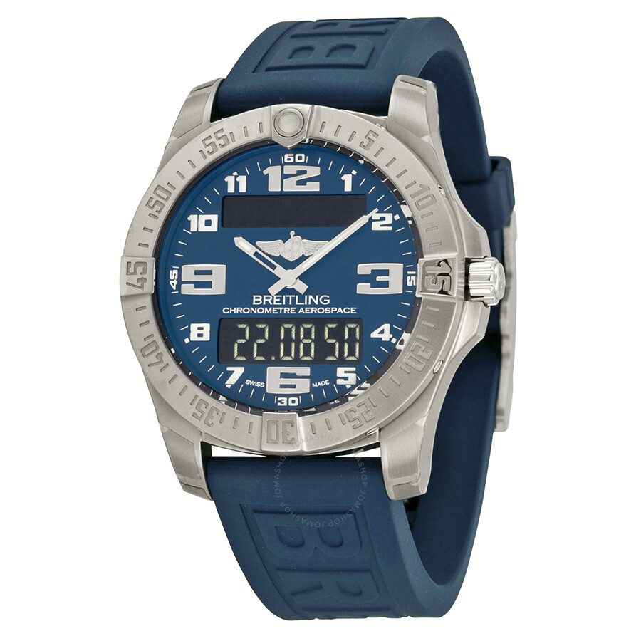 Breitling Watches For Sale >> Breitling Aerospace Evo Blue Dial Blue Rubber Men S Watch E7936310