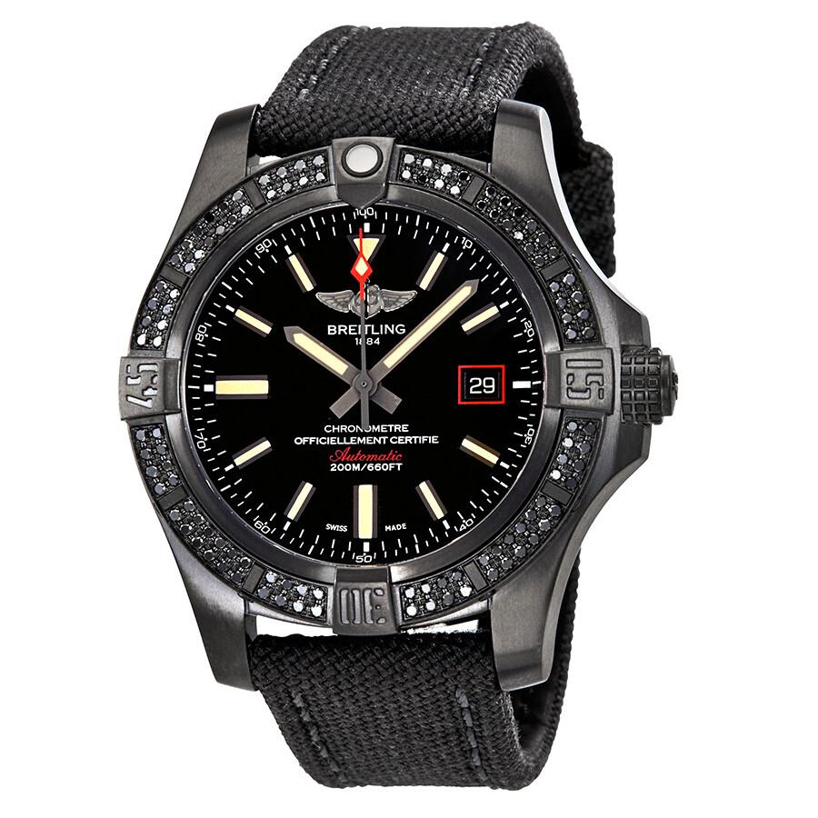 Breitling avenger blackbird automatic men 39 s watch v17311at bd74gcvt avenger blackbird for Breitling automatic