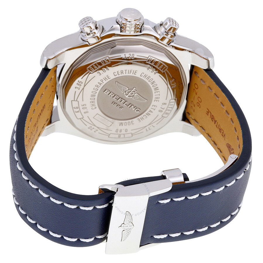 f44d986286c91 ... Breitling Avenger II Automatic Blue Dial Blue Leather Men s Watch  A1338111-C870BLLD