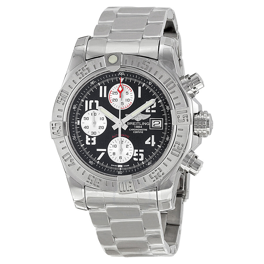 breitling avenger ii black dial chronograph stainless steel automatic men 39 s watch a1338111. Black Bedroom Furniture Sets. Home Design Ideas