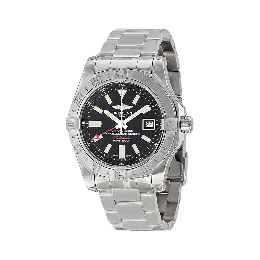 Breitling avenger ii gmt black dial men 39 s watch a3239011 bc35ss avenger avenger breitling for Avengers watches