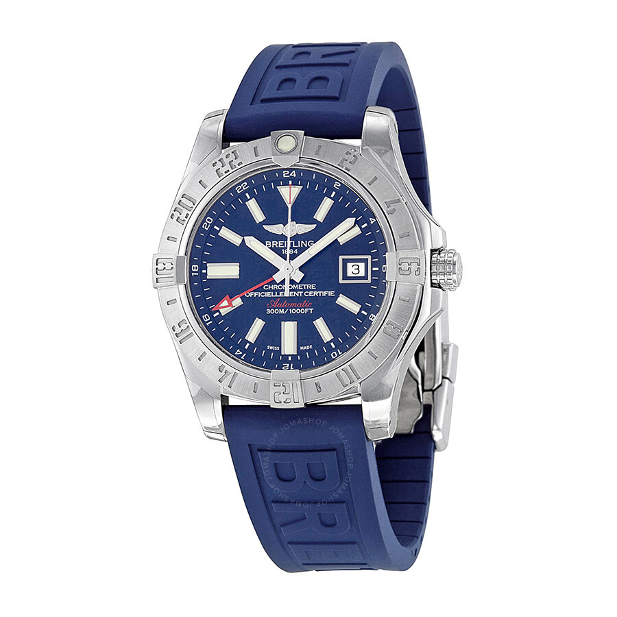 Breitling avenger ii gmt automatic blue dial men 39 s watch a3239011 c872blpd3 avenger avenger for Avengers watches