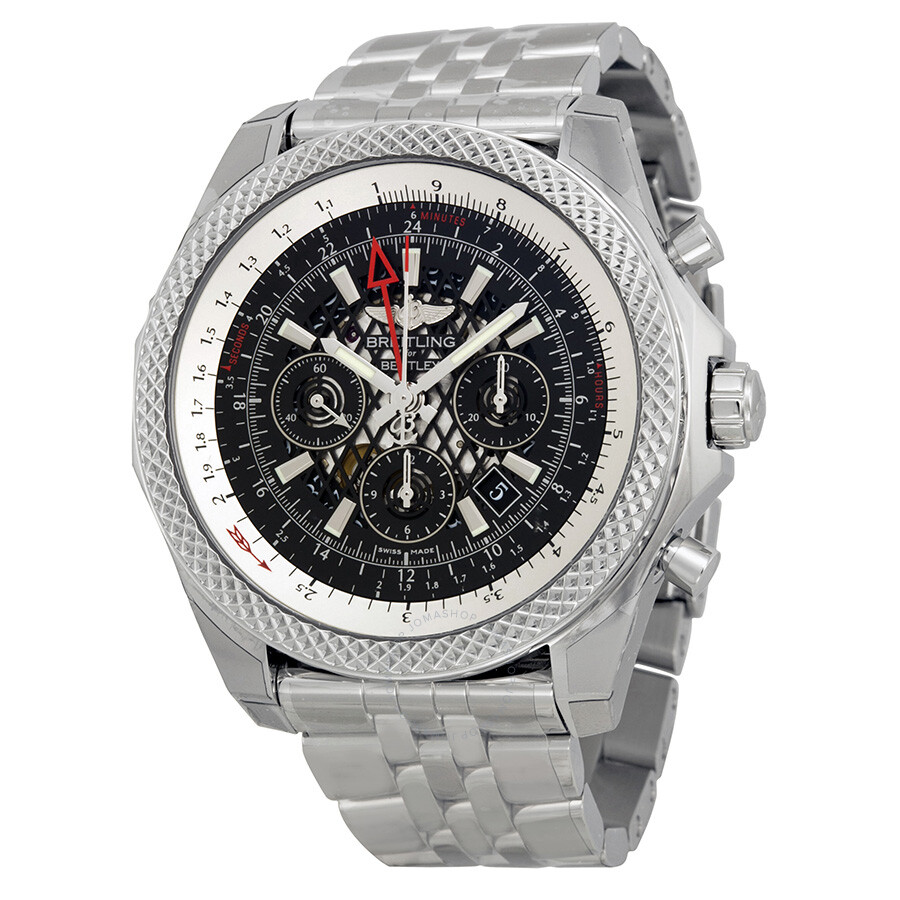Breitling Bentley B04 GMT Black Dial Chronograph Men's