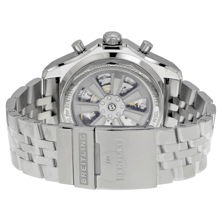 Fs Breitling Bentley Gt Chrono Stainless Silver Dial 45mm: Breitling Bentley B04 GMT Chronograph Silver Dial