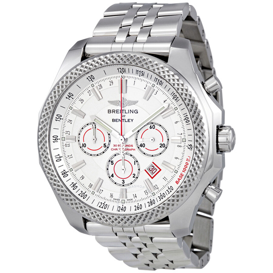 breitling bentley barnato automatic silver dial men 39 s watch a2536821 g734ss for bentley. Black Bedroom Furniture Sets. Home Design Ideas