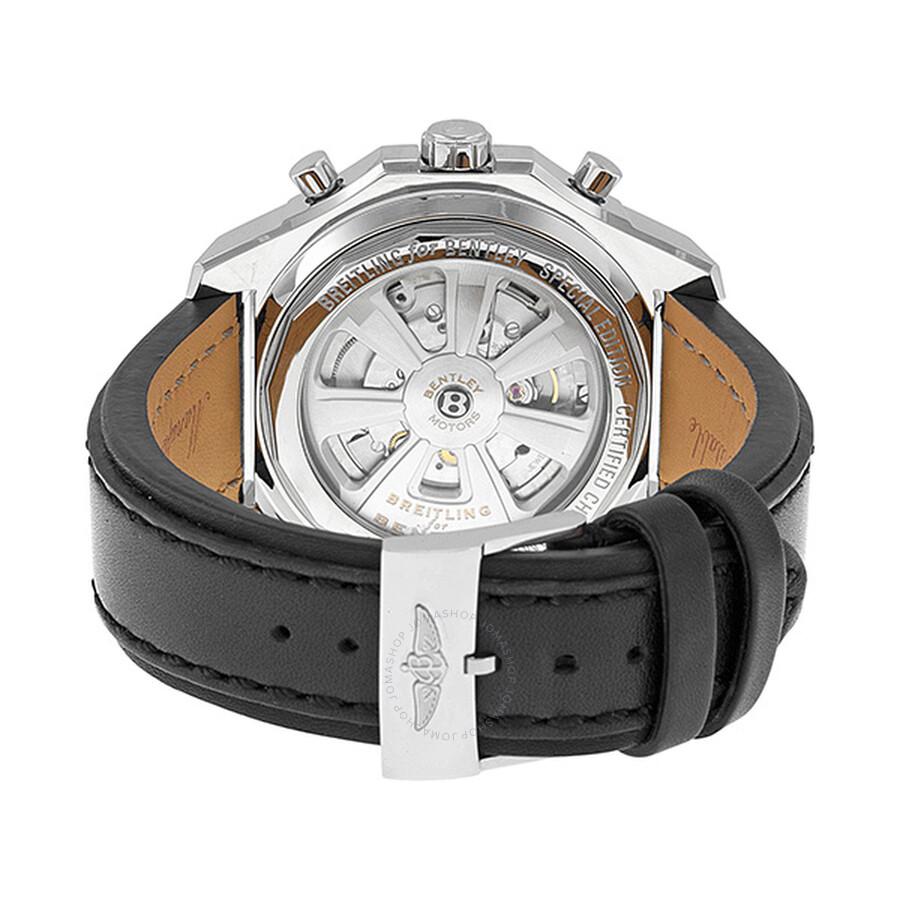 Breitling Bentley Barnato Black Dial Black Leather