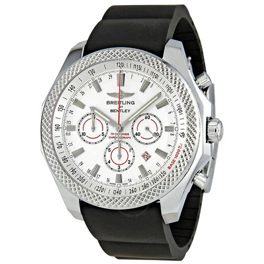 Breitling Bentley Barnato Silver Dial Chronograph Men's